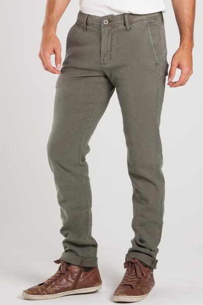 chino jeans chino slim in army green cali linen jeans GMKHFJS