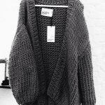 Wearing chunky knit cardigans to enhance your look