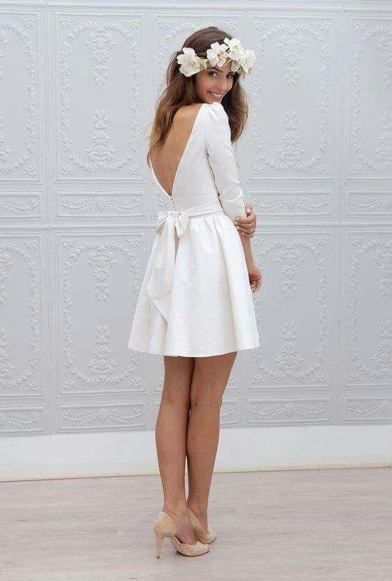 civil wedding dresses short wedding dress DIPKATR
