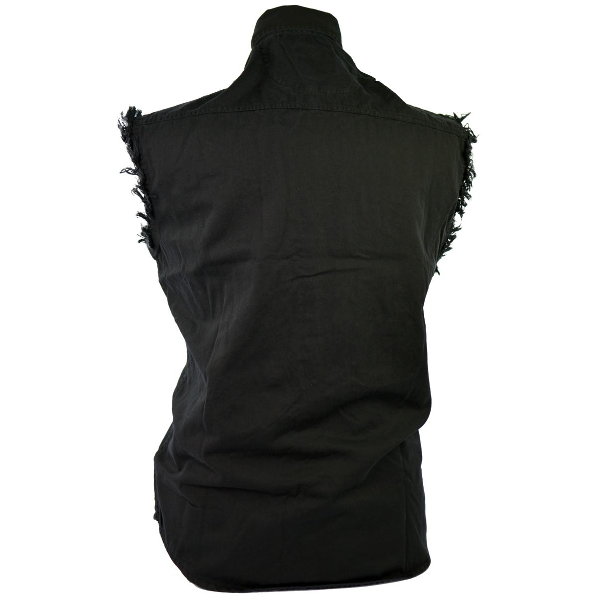 classic biker cutoff sleeveless shirts JKMQPQN