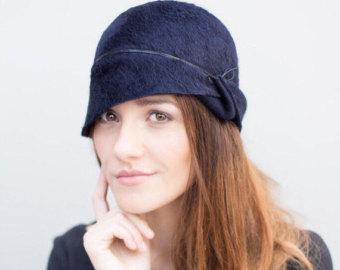 cloche hats the lea cloche hat, winter felt millinery chapeau, made to measure XVIUZVT