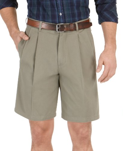 club room brown pleated walking shorts | size 32 at amazon menu0027s clothing WNCIEAS