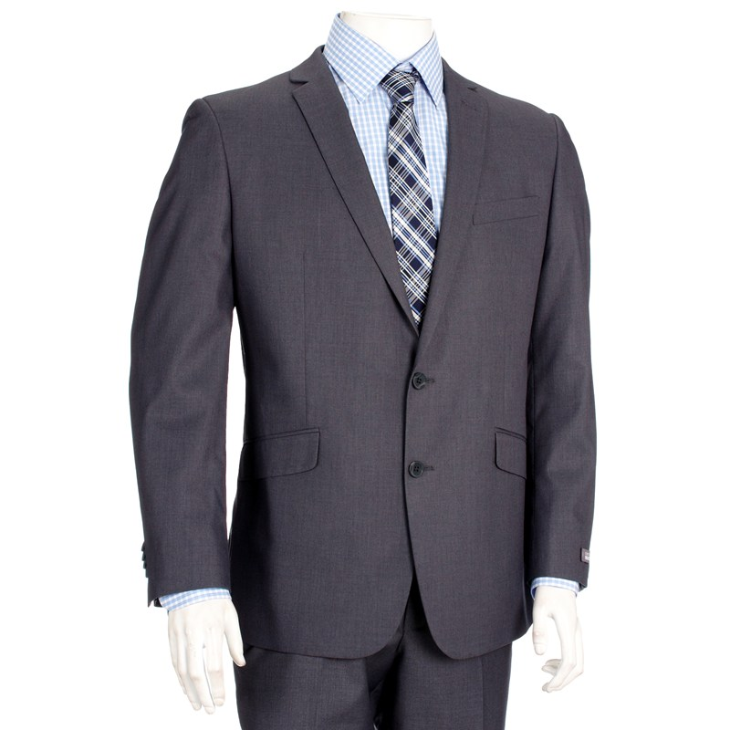 coat suit modern fit 2-piece grey suit ($129.99) LGRXBQC