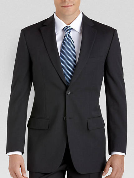 coat suit pronto uomo platinum portly suit separates coat black XHEEDGV