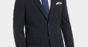 coat suit pronto uomo platinum suit separates coat, navy sharkskin - menu0027s suit  separate coats ZGYFRWM