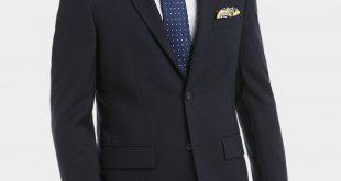 coat suit pronto uomo platinum suit separates coat, navy sharkskin - menu0027s suit  separate coats ZGYFRWM