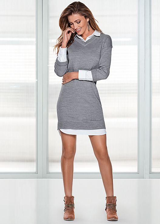 collar detail sweater dress $39 JBMKZKV