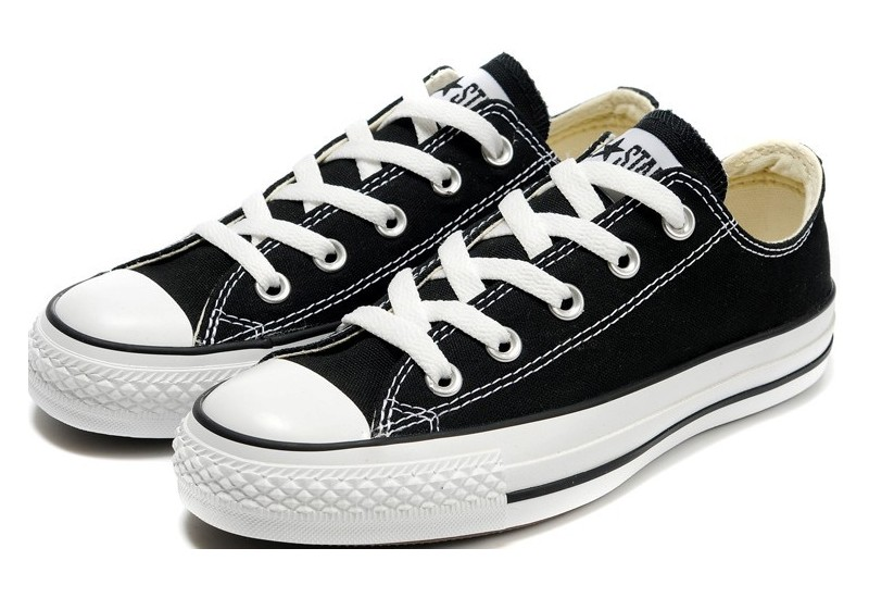 converse classic ... converse shoes black chuck taylor all star classic womens/mens canvas  lo sneakers YHHKSCB