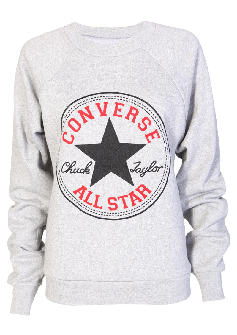 converse clothing converse sweatshirt in grey - womens clothing sale, womens fashion, cheap  clothes online BWOIIFQ