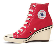 converse heels converse all star wedge hi high heel sneakers women lady lace up shoes red XVXXQGR