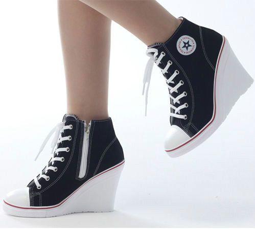 converse heels wedges trainers heels sneakers platform high top ups zip boots converse UIMKZLH