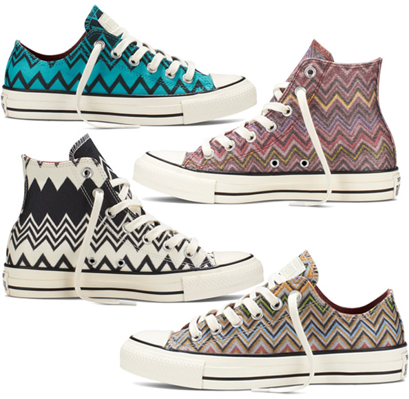 Converse Missoni step up your sneaker game with missoni x converse all stars QXFYQVD