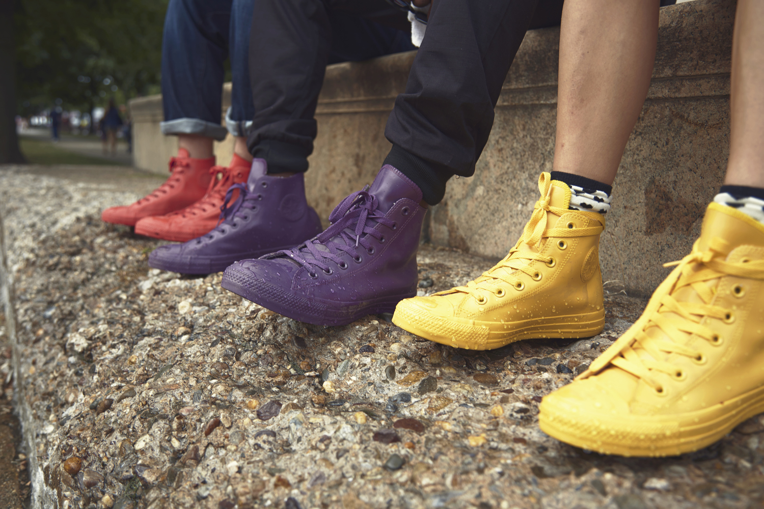 converse rubber converse takes on the elements with rubber chuck taylors | complex TYVGUGP