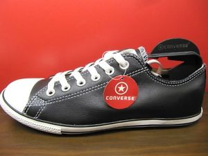 converse slim image is loading new-converse-all-star-slim-cut-black-leather- YAEUBSE