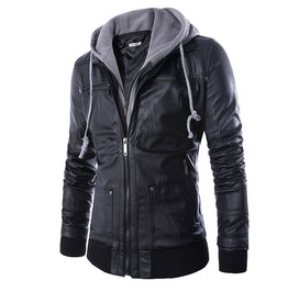 cool jackets menu0027s moto racer faux leather hooded jackets NNTCPQY