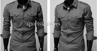 cool shirts for men 2015 new arrival mens slim fit business shirts cool shirt summer collar  shirt OCAHOSY