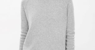 cos image 2 of relaxed cashmere jumper in light grey NLZFMRR