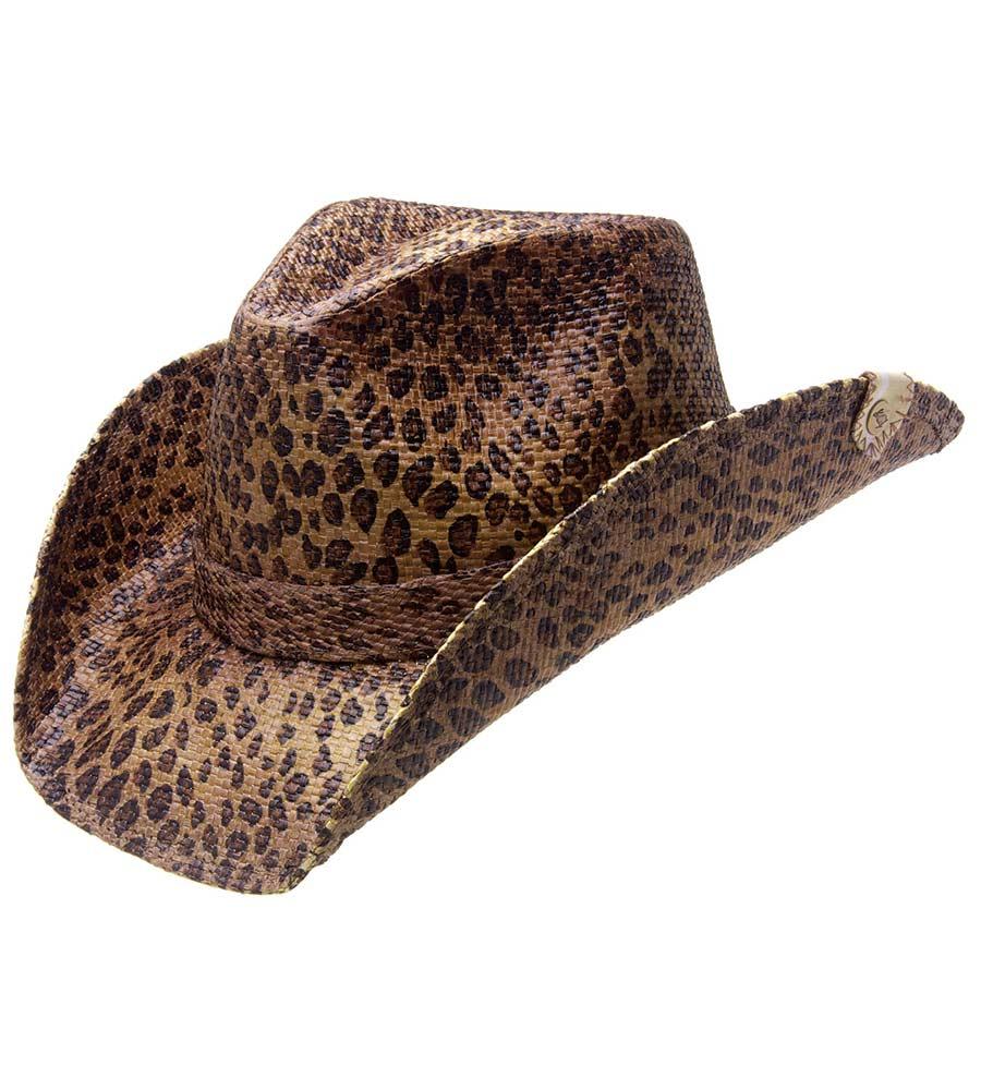 cowboy hats peter grimm rowdy drifter cowboy hat - leopard HXKSLMB