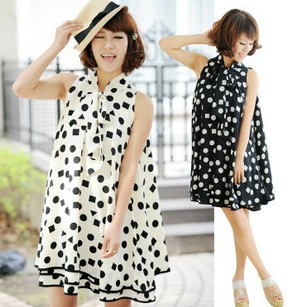 cute maternity clothes for pregnant women chiffon dress sophisticated  knee-length UQGYOIE