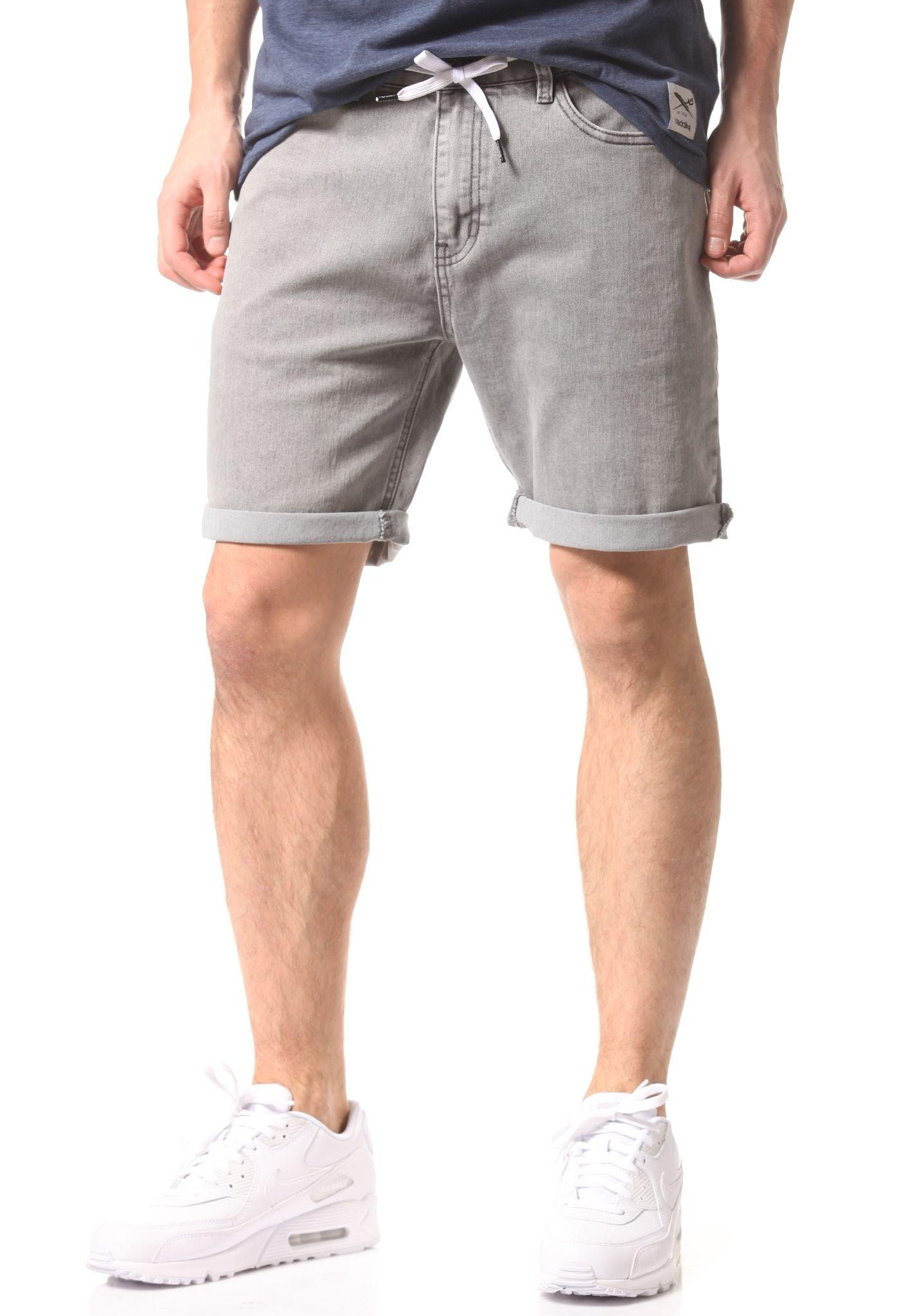 denim shorts for men iriedaily slim shot2 denim - shorts for men - grey - planet sports PCJOQZH