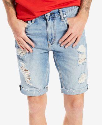 denim shorts for men leviu0027s® menu0027s 511 slim-fit cutoff ripped jean shorts EJCCUHK