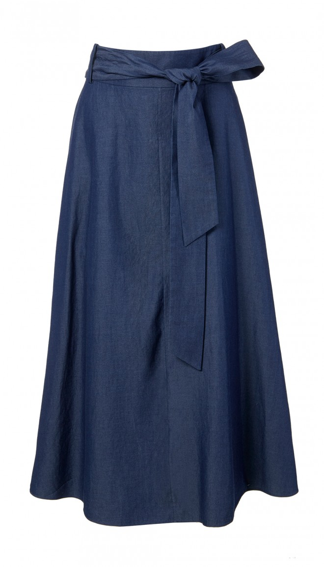 denim wrap skirt GEAWCOX