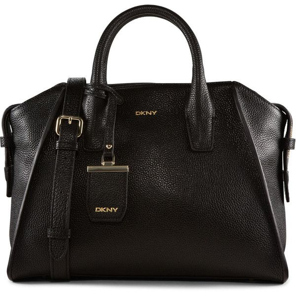 dkny bags dkny fine pebble leather satchel (u20ac265) ❤ liked on polyvore featuring bags, KBHYYTJ