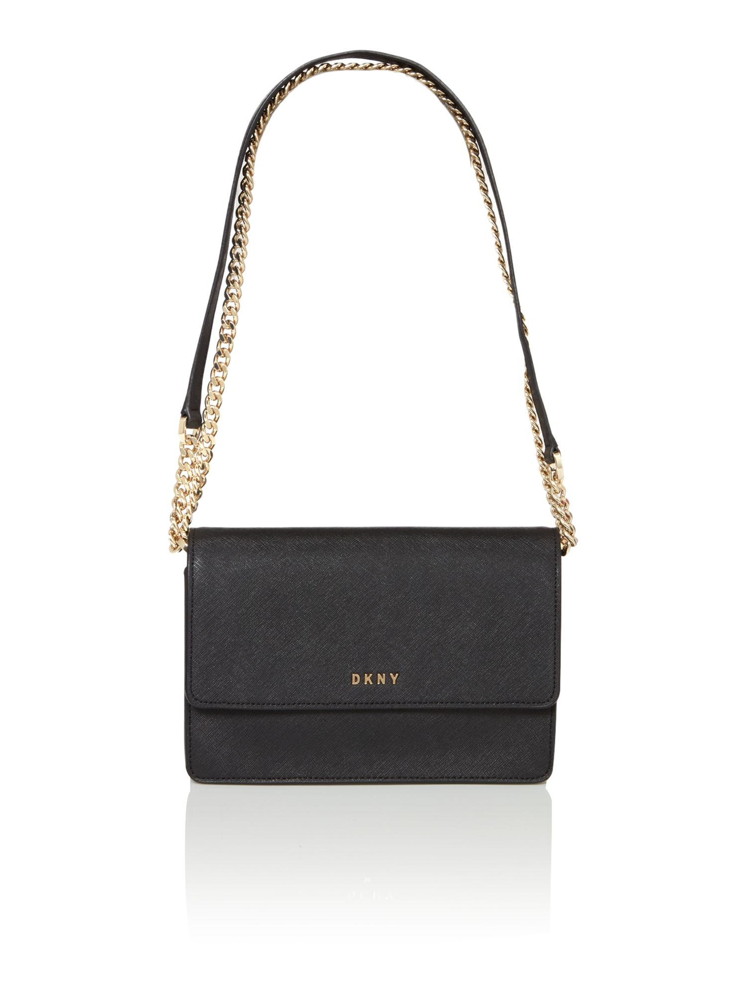 dkny bags dkny saffiano black small flapover cross body bag ... QLBHPRK