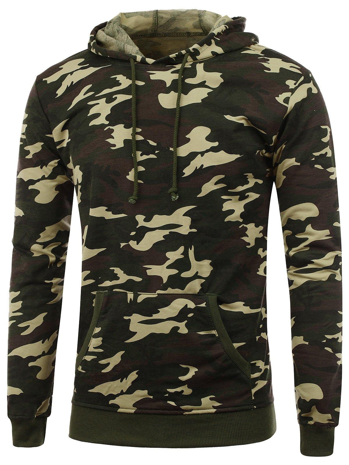 drawstring camo hoodie - camouflage 3xl DZDKIAG