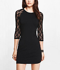 express dresses lace raglan sleeve dress | express VDQGMMK