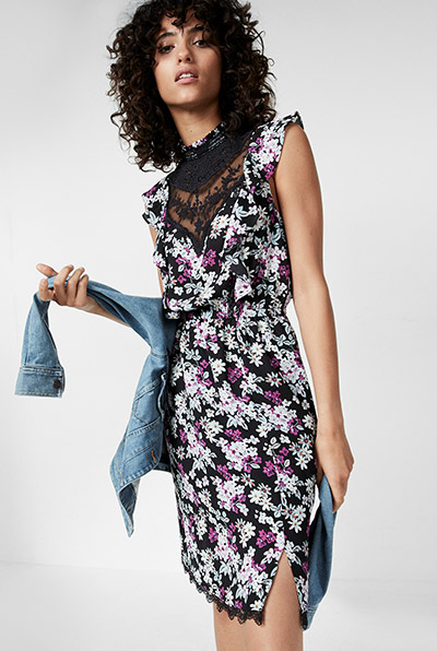 express dresses midi. shoulder interest dresses DDQTUOM