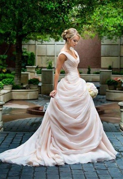 fairytale dress - beautiful blush wedding dresses - photos PYCNREM