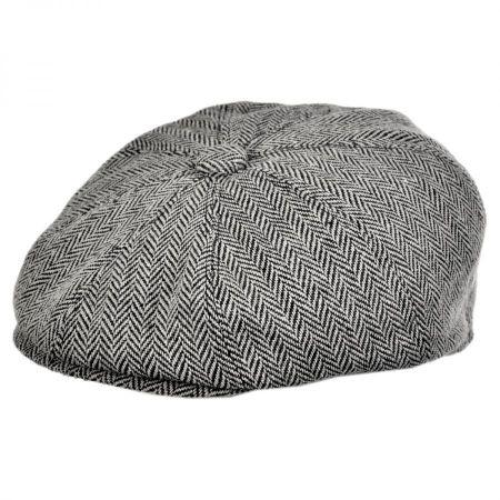 flat cap jaxon hats herringbone wool blend newsboy cap OLIEBAC