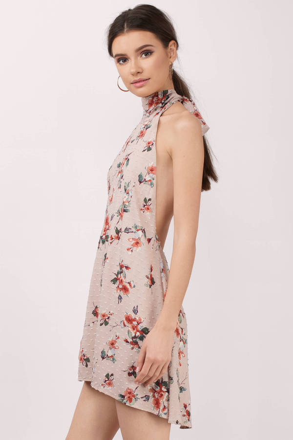 floral dress ... leslie blush multi floral print shift dress ... DVMXTPE
