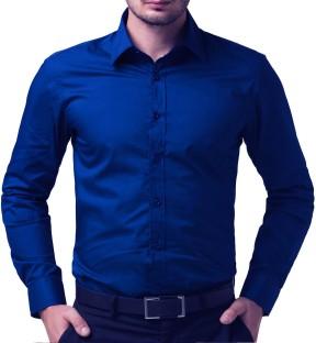 formal shirts for men being fab menu0027s solid formal blue shirt SPOMRVI