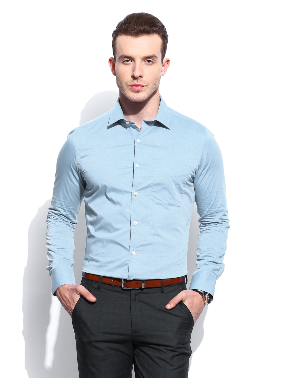 Formal Blue Shirts For Men