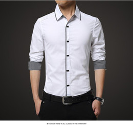 formal shirts for men high quality mens shirt long sleeve cotton male business banquets brand  fashion formal NTUIVJE