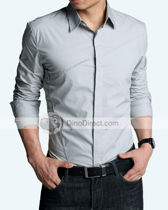 formal shirts for men kuegou fashion cotton men formal shirts - dinodirect.com IJLREXI