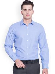 formal shirts for men mark taylor men blue slim fit self-design formal shirt XHCEDNU