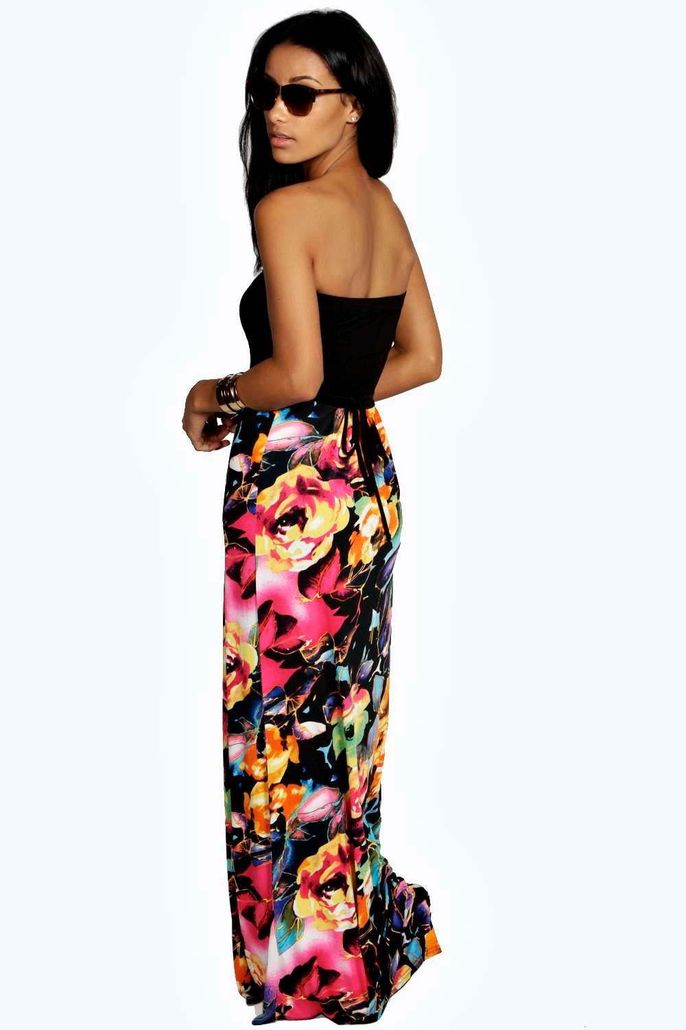 freya floral bandeau maxi dress. hover to zoom. close video VSTVPJY
