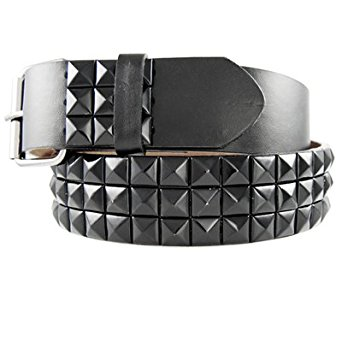 geniune leather black studded belt with black studs, medium at amazon menu0027s  clothing YISXFPW