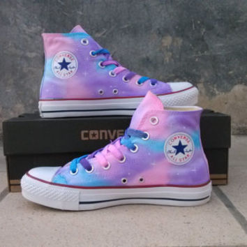 girls converse shoes painted shoes converse gradient sky hand-painted shoes girls custom galaxy  starry sky,children QDZBXOW
