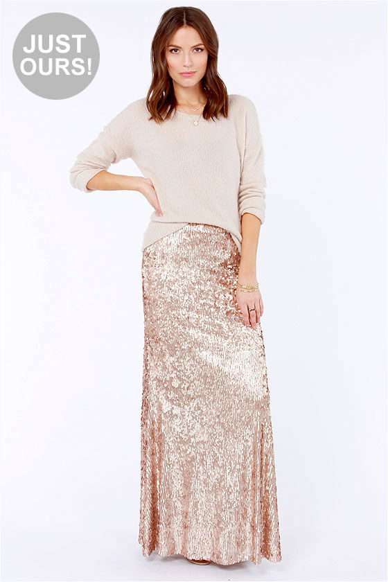 gold sequin skirt lulus exclusive reign or shine gold sequin maxi skirt UOPUKCY