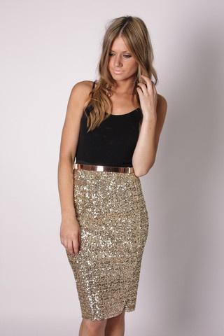 gold sequin skirt sparkly gold pencil skirt! EHTFQLD