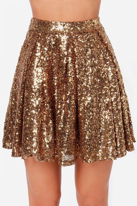 gold sequin skirt YQOYFOZ