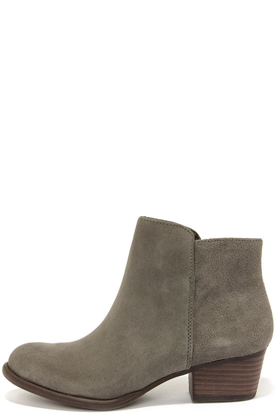 grey suede boots cute grey boots - suede boots - ankle boots - booties - $109.00 PCECVLY