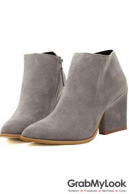 grey suede boots suede color lace up rock funky military ankle flat boots ... SHXRPBZ