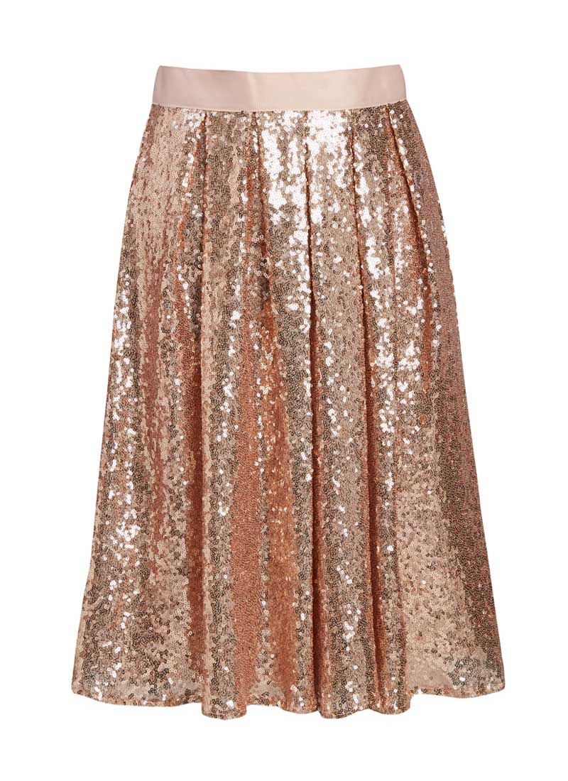iris rose gold sequin skirt IRJOAWB