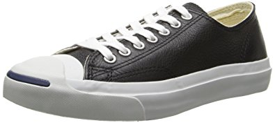 jack purcell converse converse jack purcell leather fashion-sneakers, black/white, 4.5 b(m UKKSKYX