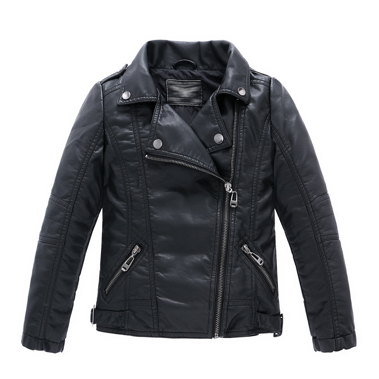 jackets for girls spring autumn children girls leather motorcycle jackets pu leather jackets  for girls and IVFBUAM